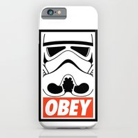 iPhone & iPod Case featuring OBEY Storm Trooper  by Royal Bros Art
