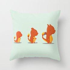 Evolution fire Throw Pillow