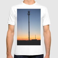 Tower in the Sky White SMALL Mens Fitted Tee