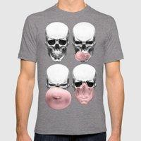 Skulls Chewing Bubblegum Mens Fitted Tee Tri-Grey SMALL