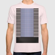 Black And Blue Mens Fitted Tee Light Pink SMALL
