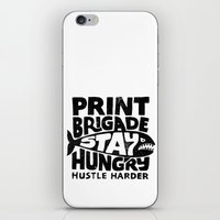 Hustle Harder iPhone & iPod Skin