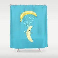 Bananachute Shower Curtain