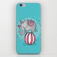 CIRCUS ELEPHANT iPhone & iPod Skin