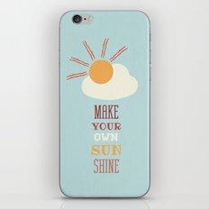 Make Your Own Sunshine iPhone & iPod Skin