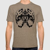 Ink Blot v4 Mens Fitted Tee Tri-Coffee SMALL