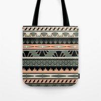 Art Deco Stripes - Salmo… Tote Bag