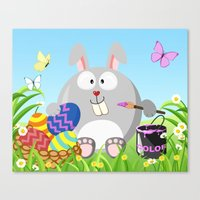 Easter bunny in April month series Canvas Print
