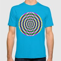 Neon Eye Mens Fitted Tee Teal SMALL
