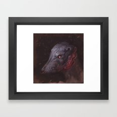 Blue Hound Framed Art Print