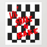 Lil' Shake and Bake Art Print