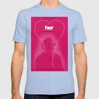 Her Mens Fitted Tee Tri-Blue SMALL