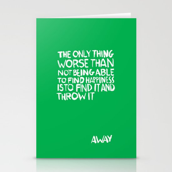 ...Away (Vers. 2) Stationery Card