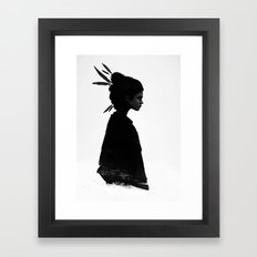 Never Never Framed Art Print