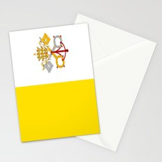 Flag of vatican city Stationery Cards