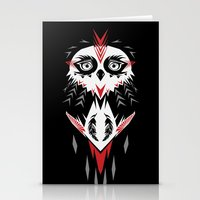 American Indian owl Stationery Cards