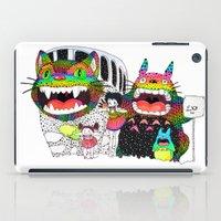 Totoro fan art (cat bus) by Luna Portnoi iPad Case