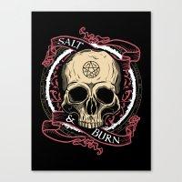 Salt & Burn Canvas Print