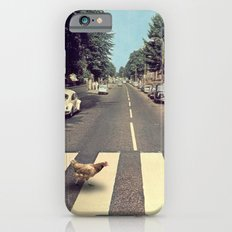 Why did the chicken cross THE road? iPhone 6 Slim Case