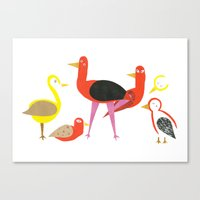 A Gathering Of Birds Canvas Print