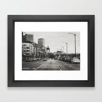 City Grain Framed Art Print