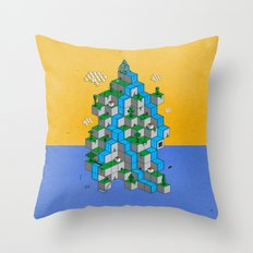 Ecubesystem Throw Pillow