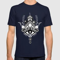Mandala eye queen Mens Fitted Tee Navy SMALL