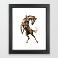 Ink Horse Framed Art Print