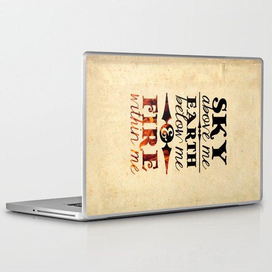 Sky Earth Fire Laptop & iPad Skin