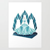 Waiting ( The Snow Queen… Art Print