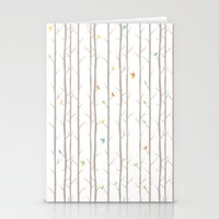 Trees And Birds Stationery Cards