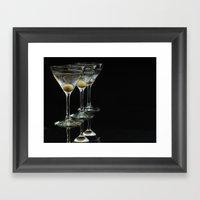 Three Martini's And Thre… Framed Art Print