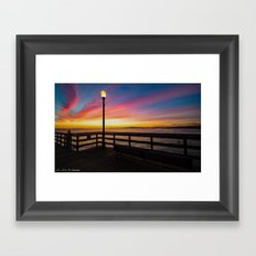 Pier Side - Seal Beach Framed Art Print