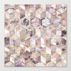 Blush Quartz Honeycomb Canvas Print