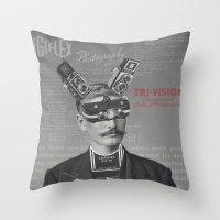 Mr Tri-Vision Throw Pillow