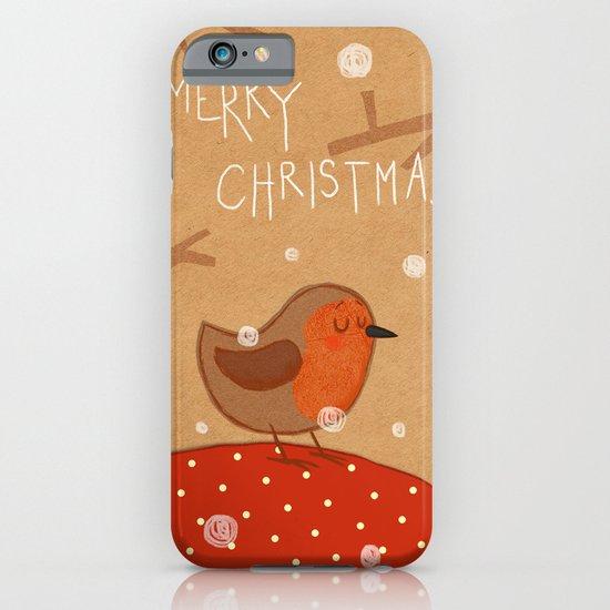 Christmas robin iPhone & iPod Case