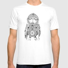 A wise old owl sat on an oak Mens Fitted Tee SMALL White