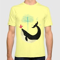 The Bird and The Whale Mens Fitted Tee Lemon SMALL