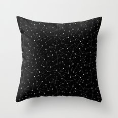 Constellations (Black) Throw Pillow