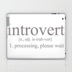Introvert Laptop & iPad Skin