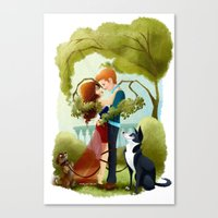 Love And Dogs Canvas Print