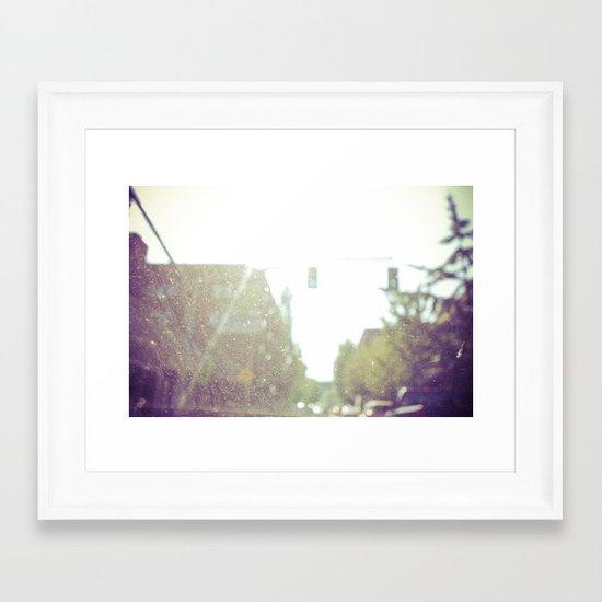 BLUR Framed Art Print