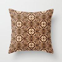 Leopard Kaleidoscope Wil… Throw Pillow