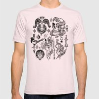 Lesser Alchemy Mens Fitted Tee Light Pink SMALL
