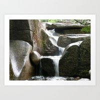Rocky Water Fall Art Print