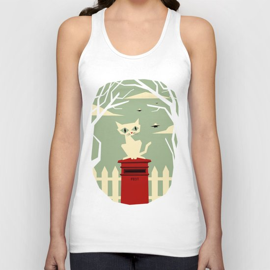 Let's meet at the red post box Unisex Tank Top