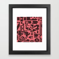 Press Play Framed Art Print