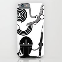 iPhone & iPod Case featuring Robot Graffiti  by David Finley