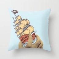 Throw Pillow featuring Arr! Arr! by Pascal Hoayek