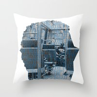 Poster Face #1 Throw Pillow